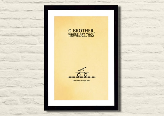 O' Brother Where Art Thou Movie Poster Art Print 11 X 17