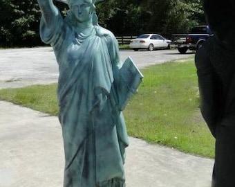 Statue Of Liberty Figure Lifesize Metal Statue