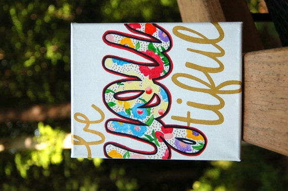 BeYOUtiful By CameronJeanDesigns On Etsy
