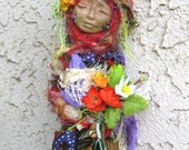 RESERVED Flora, The Bohemian Kitchen Witch Besom by Griselda Tello
