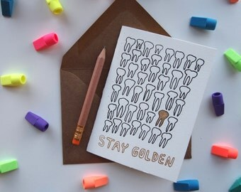 Card: Stay Gold - Tooth