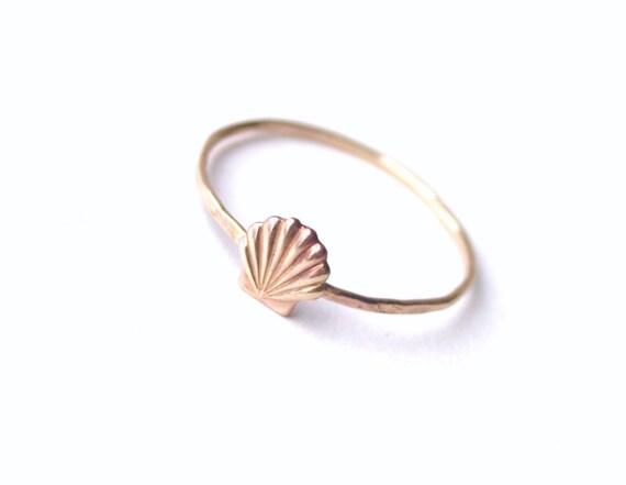 Brass Little Shell Ring