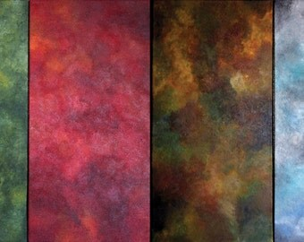 Four Seasons Original Paintings Set or Individual Pieces Spring Summer Fall Winter Acrylic Panels