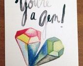 You're a Gem Postcard