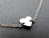 "I Love You So Much Tiny Heart Bracelet // Silver Small Love Charm // 7"" Silver Chain // Love Bracelet"