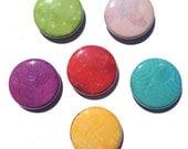 Multi Color Magnets - Color Pinback Buttons - Fridge Magnet Set, Multicolor magnets, 1 inch, pins, office magnets, fridge magnet