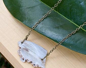 White Agate Stone Necklace