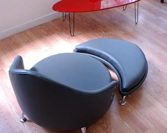 Havana Retro Lounge Chair and Ottoman Mid Century Modern Furniture