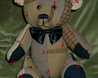 1) Blanket Bear- Recycled Wool coat, quilt, or any sentimental clothing or blanket