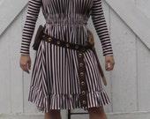 TINKER SUE Brown-White Stripe Underdress