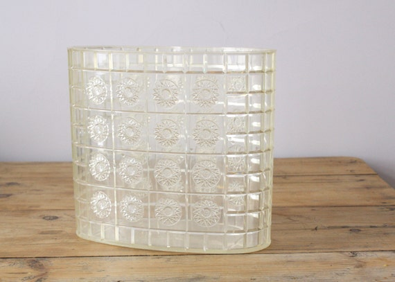 vintage acrylic garbage can / lucite trash can / clear plastic
