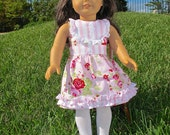 18 inch Doll Dress Pattern fits American Girl - match Girl and Doll - downloadable