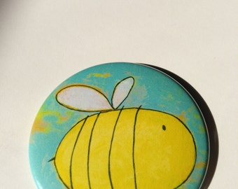 Big Bee Button Magnet
