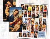 Religious Christian and Catholic Digital Collage Sheet II 1x2 inches 25mm x 50mm