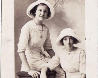 Summer Girls - Vintage Real Photo Postcard circa 1918