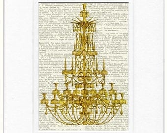 chandelier I dictionary page print