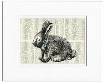 Rabbit V dictionary page print