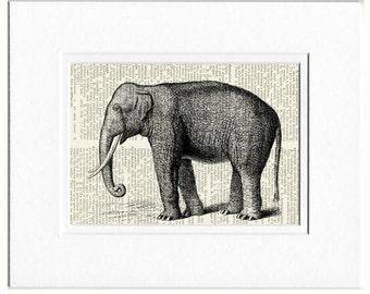 elephant dictionary page print