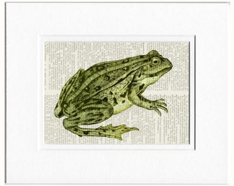Frog Print, Green Frog