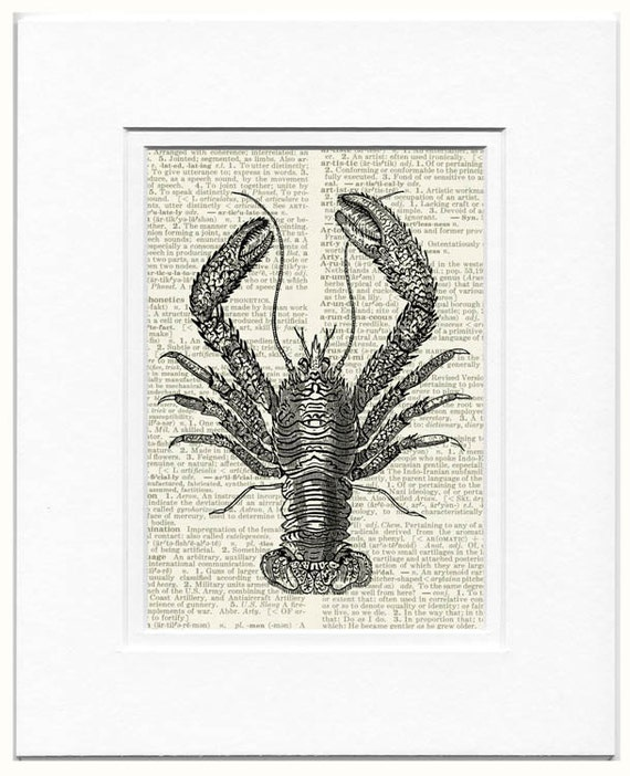Lobster II dictionary page print