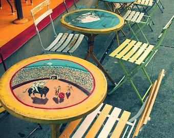 Seattle Cafe Metallic Finish Photograph