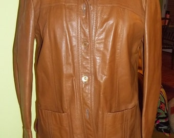 Ultra SLEEK and TIMELESS Vintage Leather Jacket - Made in Uruguay