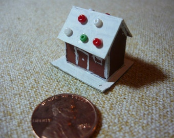 Miniature Gingerbread House for Doll House or Printers Drawer