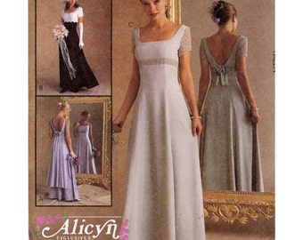 Brides Romantic wedding gown or bridesmaid dress sewing pattern McCalls 9126 wedding dress pattern Sz  4 to 8 Uncut