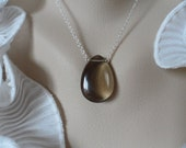 Smoky Quartz Necklace and Sterling Silver - Mothers Day Gifts, Birthday Gifts and Bridesmaids Gifts, Flower Girls