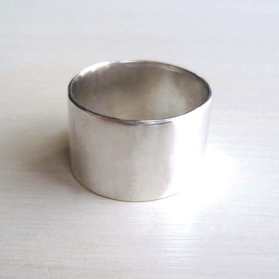 wide band ring wide silver band wide silver ring