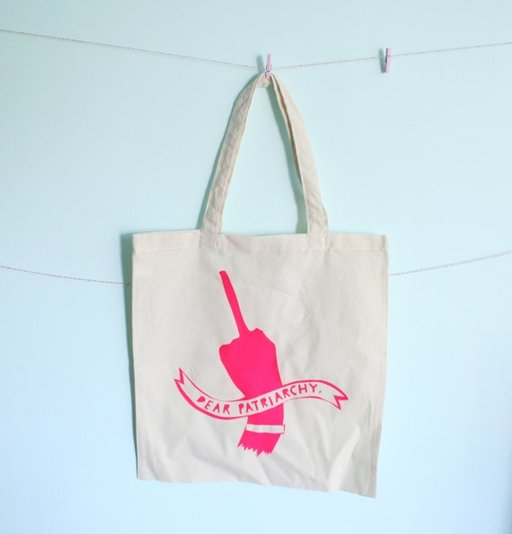 Hot Pink F-off Patriarchy Tote