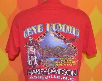 80s vintage HARLEY davidson t-shirt asheville blue ridge biker motorcycle tee shirt Large wnc