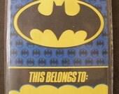 Batman Nameplates Stickers Labels Bookplates NIP Batman Bat Symbol Vintage Gotham City