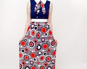 Red, White, and Blue Nautical Maxi Dress