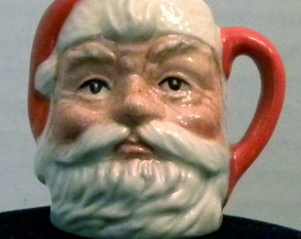 Royal Doulton Tiny Santa Claus Character Jug Mug with Plain Handle