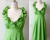 RESERVED for KRISTEN 5 Grass Green bridesmaid dresses deposit 7/27