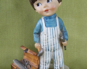 Little Carpenter - Gorham Moppet Figurine, Vintage 1973
