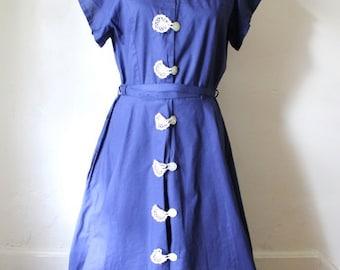 1950s Vintage Dress / Womens Size 8 Vintage Dress / Medium