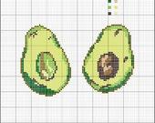 Cross Stitch Pattern PDF - Avocados