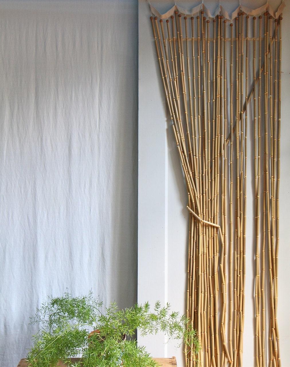 vintage 1970s wood beaded curtain boho style by ethanollie