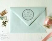 return Address Stamp No. 05---Personalized---Family Return Address, Newlyweds, Housewarming
