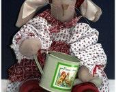 Agatha Bunny Handmade Country Doll Decoration