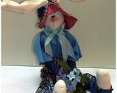 Harold The Bunny  Handmade Country Bunny Doll Decoration