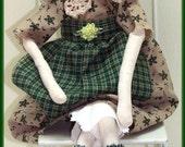 Prim Me A Bunny Mitzy Handmade Primitive Bunny Doll
