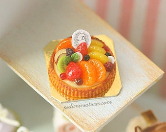 1:12 Dollhouse Miniatures - Mixed Fruit Tart