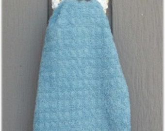 Kitchen Towel With Crochet Removable Holder Item no 53a