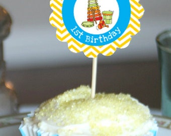 Music Party Cupcake Toppers