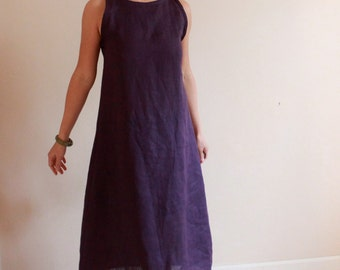custom slim shoulder linen dress made to fit listing