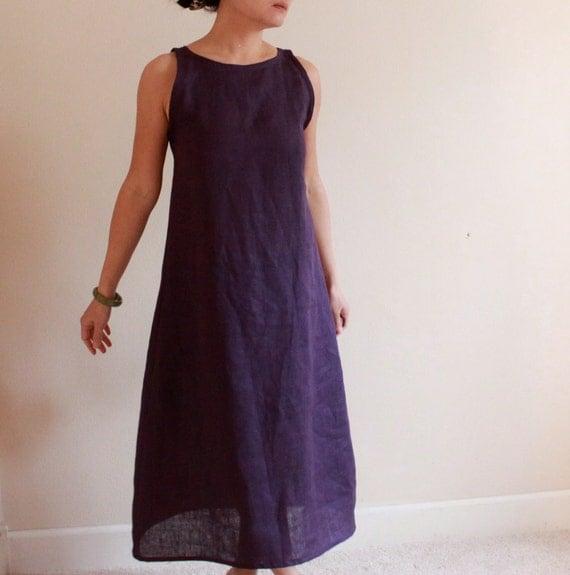 custom slim shoulder linen dress made to fit listing
