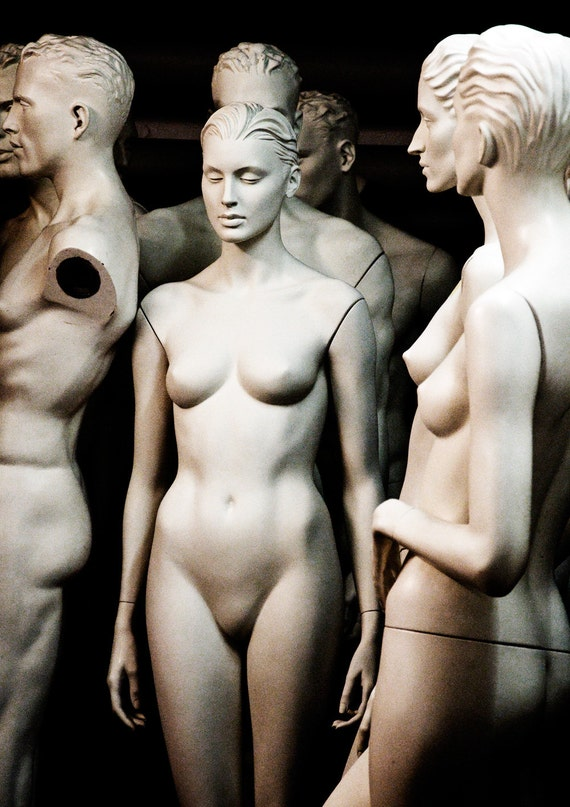 Black and White Photography Art / Mannequin Photo / Sepia CELEBRATING THE ODD